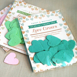 Your guests can plant their Flutter Heart Confetti Seed Paper Wedding Favors to grow gorgeous wildflowers.
