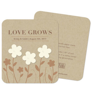 Add the perfect touch of natural, rustic charm to your wedding with these eco-friendly Rustic Garden of Love Seed Paper Wedding Favors.