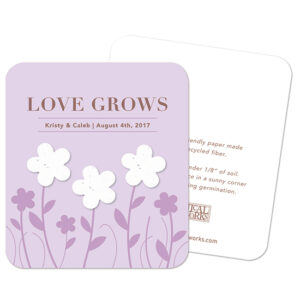 Treat your beloved wedding guests to elegant, eco-friendly Garden of Love Seed Paper Wedding Favors.