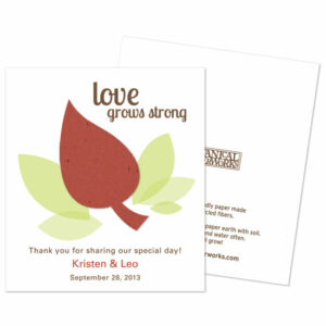 Thank your guests for celebrating with you with these eco-friendly Leaf Seed Paper Favors.