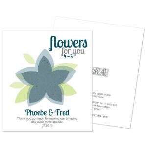 Plant the seed paper flower on these Modern Flower Seed PaperFavors and enjoy the wildflowers they will grow.