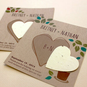 Plantable wedding favors that grow a trio of herbs!
