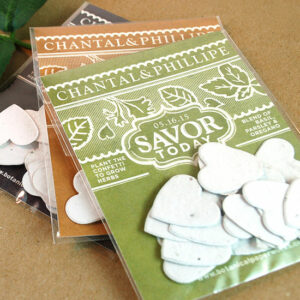 Grow a savory blend of basil, parsley and oregano with these Vintage Garden Herb Confetti Seed Paper Wedding Favors.