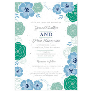 These Bloom Seed Paper Wedding Invitations are printed on eco-friendly seed paper.