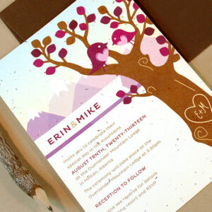 Design your own Custom Plantable Wedding Invitations and we'll print them on seed paper!