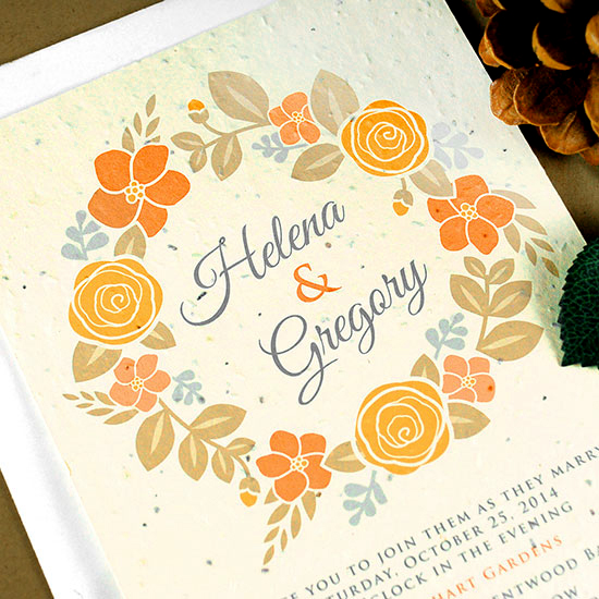 This stunning design comes in color palette made for the 4 seasons. All printed on eco-friendly seed paper that grows!