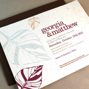 Charm your guests with Leaf Plantable Wedding Invitations that give and grow wildflowers!