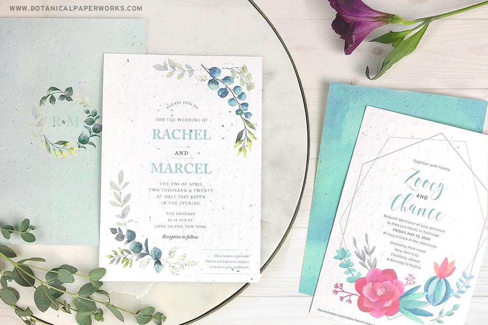 seed paper wedding invitations