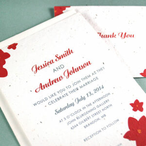 Not only do these plantable wedding invitation have beautiful floral elements in the design but they will actually grow real flowers!