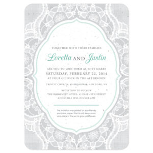 These Romantic Lace Seed Paper Wedding Invitations are eco-friendly.