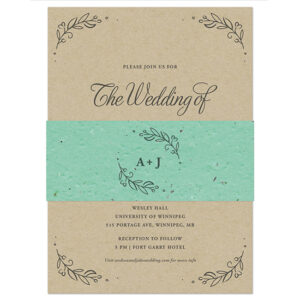 These eco-friendly Kraft Paper Wedding Invitations With Seed Paper Band are good for the planet, stylish and ideal for a variety of wedding styles.