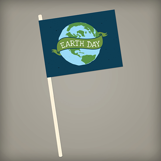 Celebrate Earth Day with these Earth Day Seed Paper Promotional Flags that reduce waste and share a fun, earth-friendly message that grows when planted in soil.