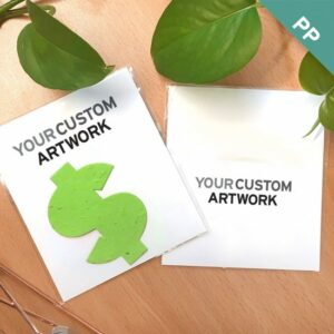 Custom Flat Card Seed Paper Giveaways