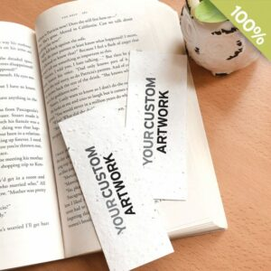 Small seed paper bookmarks