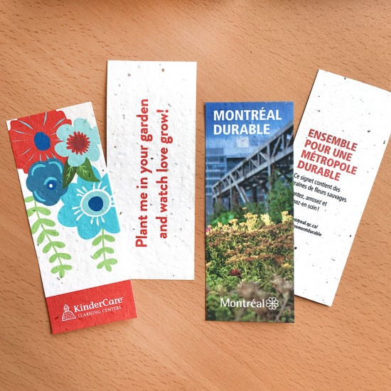 Small Seed Paper Bookmark