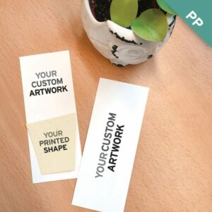 These Small Eco Bookmarks With Printed Shape are perfect for branding because you can actually print your logo or additional full-color artwork on the plantable shape!