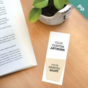 These Small Eco Bookmarks With Printed Shape are great for creative branding because you can print your logo or additional full-color artwork on the plantable shape!