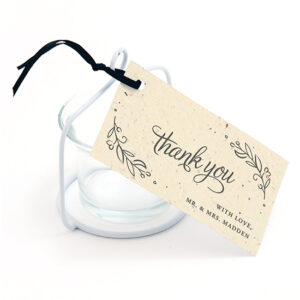 These sweet and elegant Seeds of Love Plantable Favor Tags can be planted to grow wildflowers!