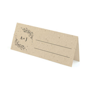 Help guests find their seat and give them a plantable wedding favor at the same time with these elegant Seeds of Love Plantable Place Cards.