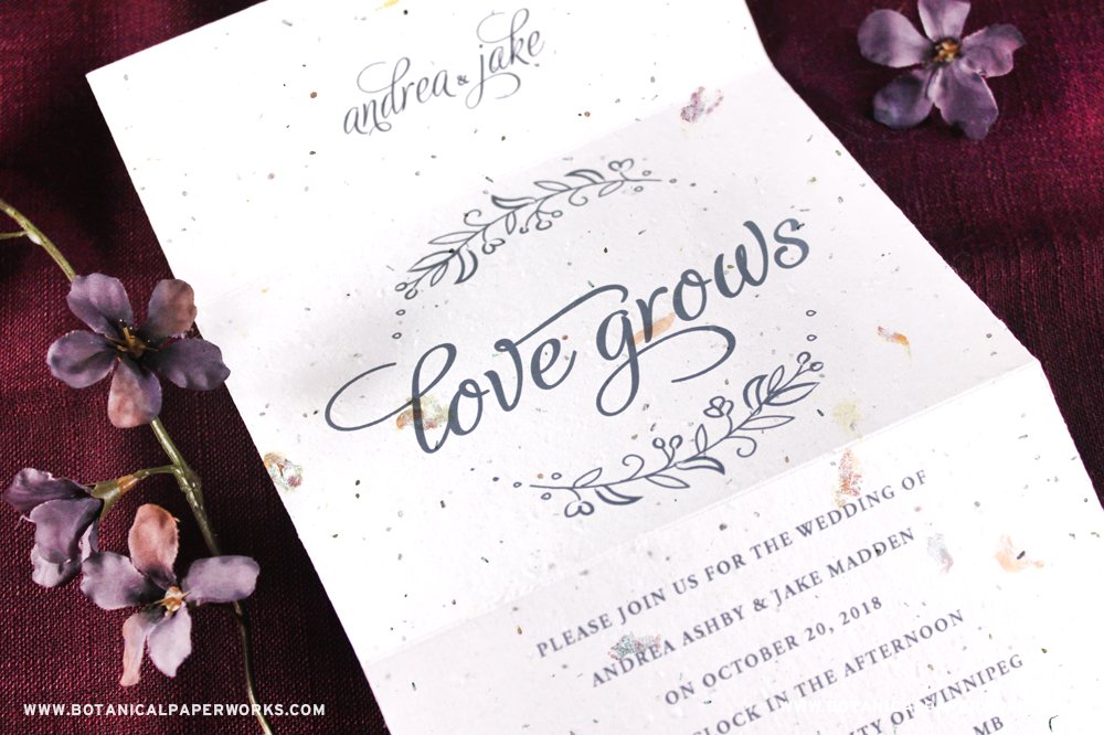 Send and Seal Seed Paper Wedding Invitations