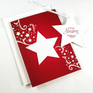 Share a holiday greeting and a gift that grows with clients, staff and colleagues with these Season Star Ornament Business Holiday Cards.