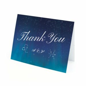 Show your gratitude and celebrate the love that was written in the stars with these beautiful plantable thank you cards that can be personalized with your zodiac signs!