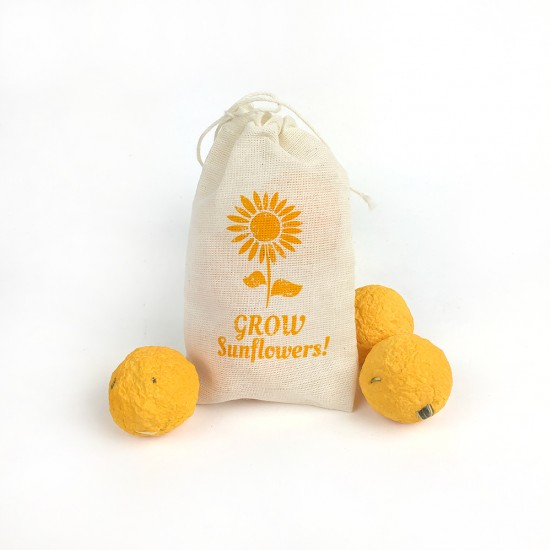 Share something unique with a seed bomb promotion that will grow bright and cheerful sunflowers!
