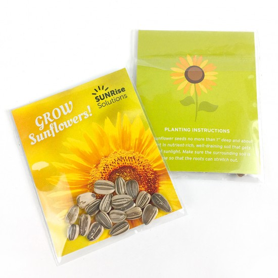 Double Sided Sunflower Seed Packet