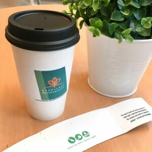 Seed Paper Coffee Cup Sleeves