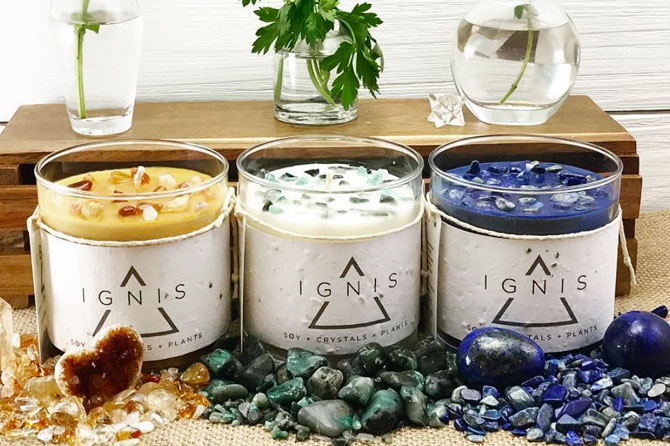 IGNIS seed paper candle packaging