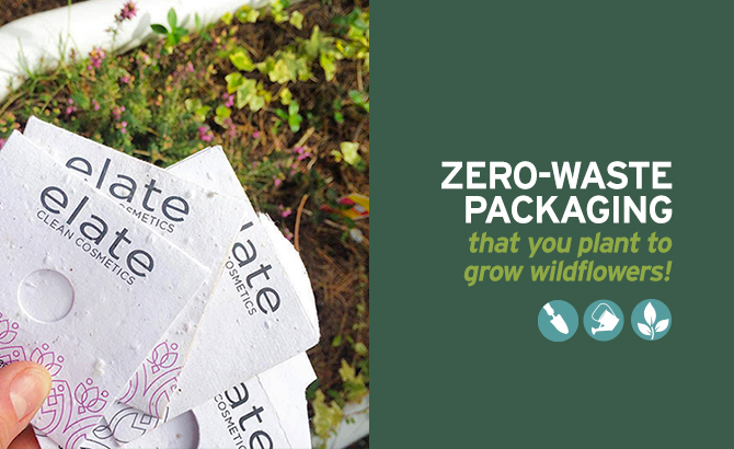 Zero-waste plantable packaging that grows plants!