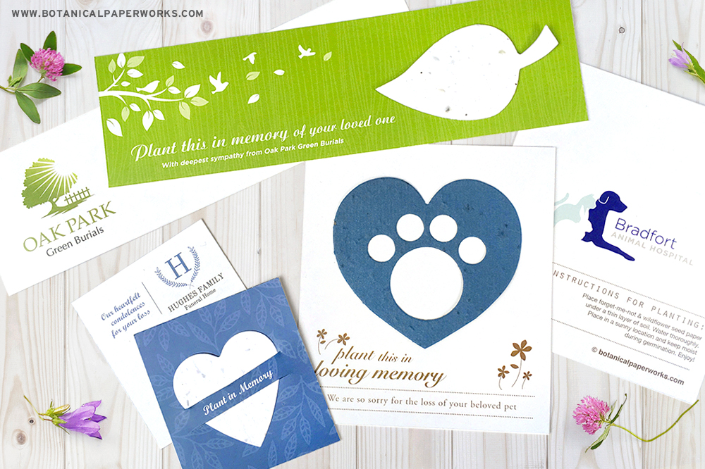 plantable seed paper sympathy gifts for businesses