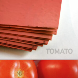Each sheet of 11 x 17 Brick Red Tomato Plantable Seed Paper is embedded with NON-GMO seeds that grow juicy tomatoes.