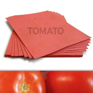 This 8.5 x 11 Brick Red Tomato Plantable Seed Paper is embedded with NON-GMO seeds that grow fresh tomatoes when planted.