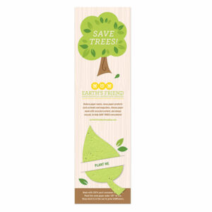 Share a message about saving trees by reducing paper waste and recycling with these unique Save Trees Plantable Leaf Bookmarks.