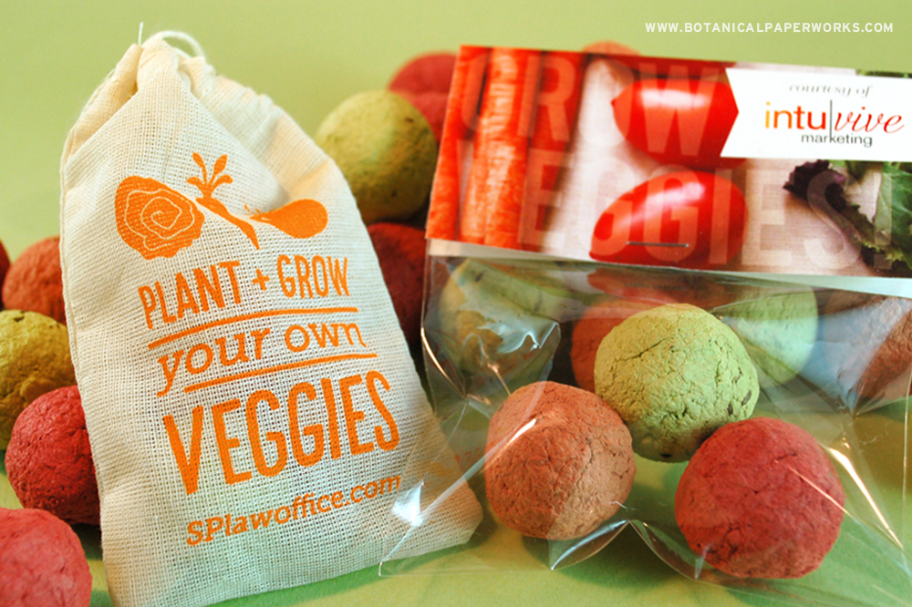 Veggie Seed Bombs promotional products that grow into veggies when planted