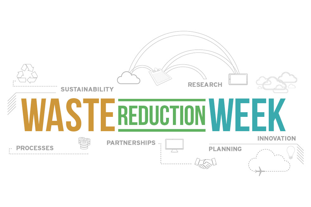 waste reduction week text graphic