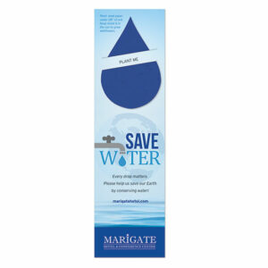 Give them a bookmark to mark their page and remind them of the importance of water conservation with these Water Conservation Plantable Droplet Bookmarks.