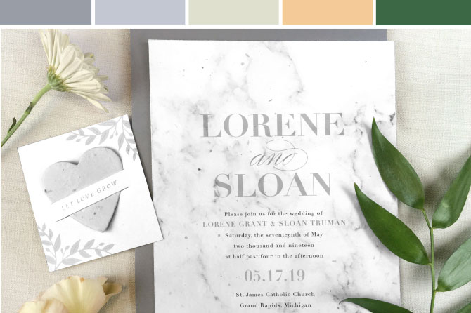Wedding Inspiration Seed Paper Stationary