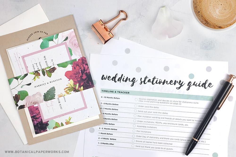 Free printable wedding stationary guide
