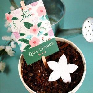 Wildflower Planting Stick Wedding Favors
