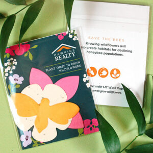 Help give and grow habitats for important pollinators such as honeybees with these colorful Wildflower Seed Paper Shape Packs that include three seed paper shapes.