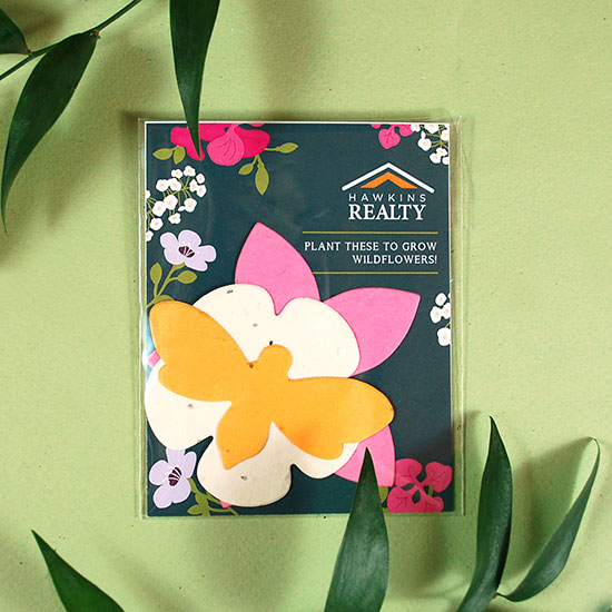 This colorful Wildflower Seed Paper Shape Pack was made to help save the bees by spreading wildflowers with three plantable shapes.