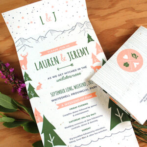 Wilderness Seal and Send Wedding Invitations