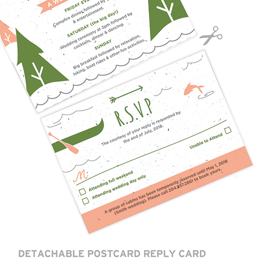 These Wilderness Seal and Send Wedding Invitations are eco-friendly and will grow beautiful wildflowers when planted.