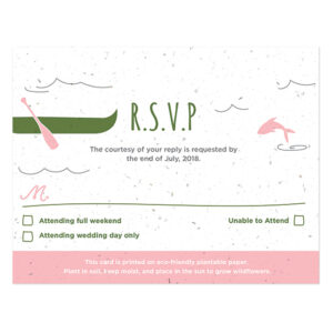 These Wilderness Plantable Reply Cards are a waste-free way to gather your wedding replies.