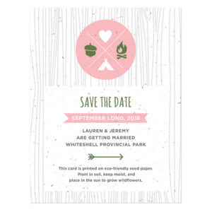 These eco-friendly Wilderness Plantable Save The Date Cards capture the adventure and announce your day in style.