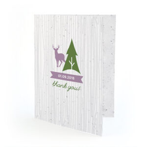 Made from recycled material embedded with seeds, these unique Wilderness Plantable Thank You Cards show love and gratitude in a beautiful, waste-free way.