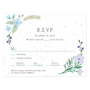 These pretty Wildflower Plantable Reply Cards actually grow real wildflowers!