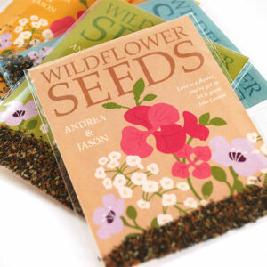 These Grow Together Wildflower Seed Packet Wedding Favors are charming and eco-friendly.